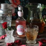 Floral Blush cocktail by Beachhutcook Gin based with apple juice and Fentimans rose lemonade