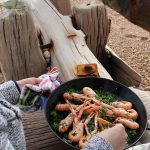 Beachhutcook Houseology Beach Cooking using a Le Creuset Paella Dish