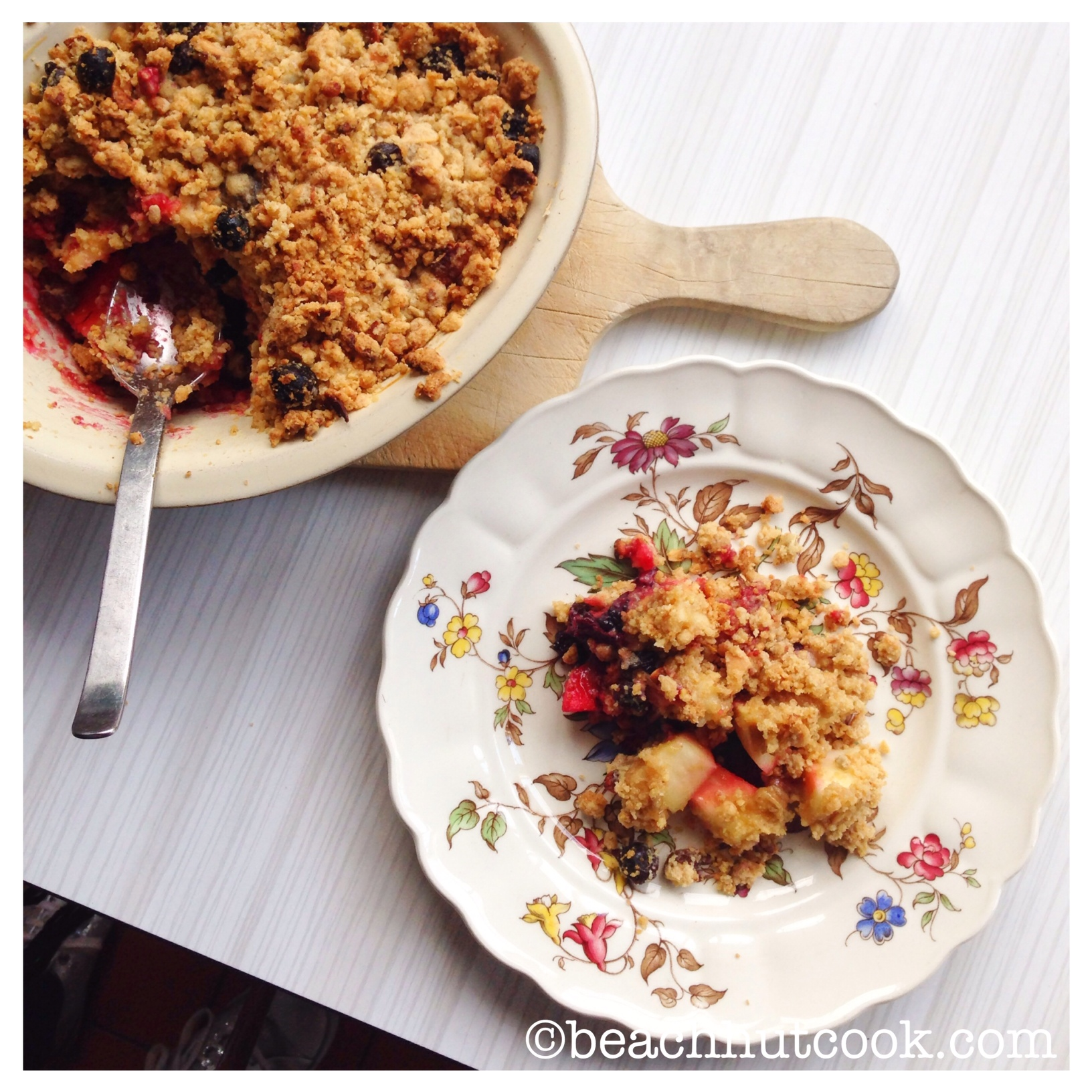 Eat Natural Muesli Crumble Recipe by Beachhutcook