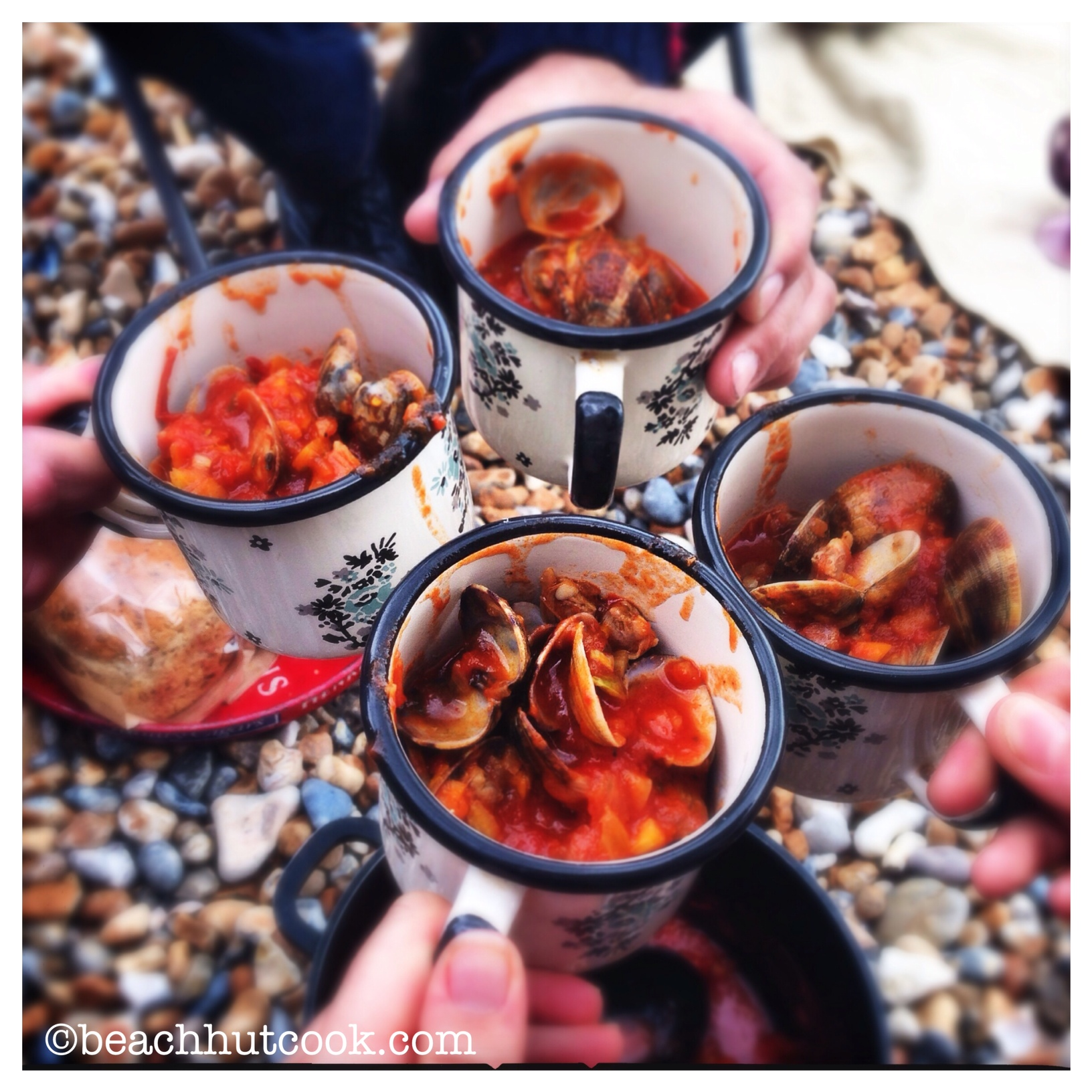 Clam and Chorizo Stew. Best Beach Lunch Part One