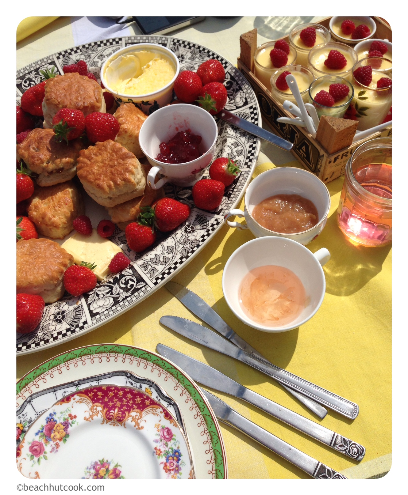 Beachhutcook's Vintage Afternoon Tea on the Beach