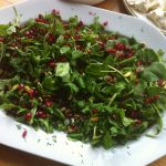 Moroccan Leaf Salad with Pomegranate and Pistachios - Beach Hut Cook