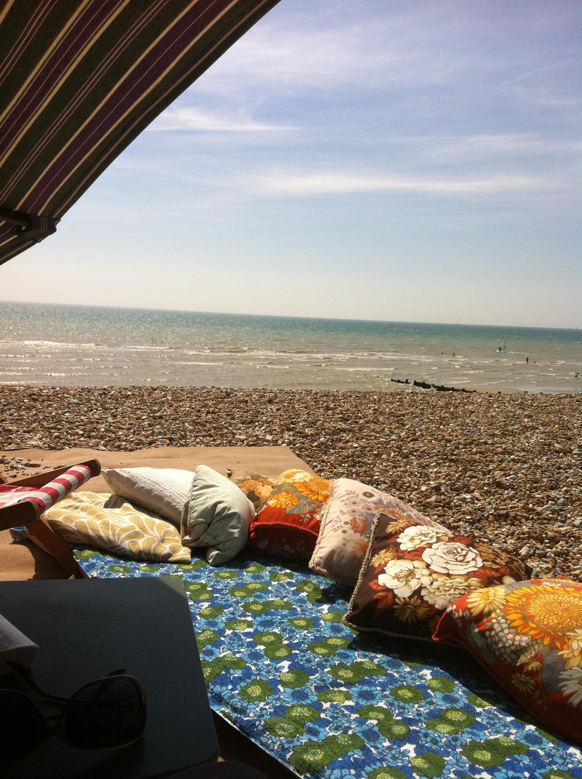 Holidaying at Home down at the Beach hut