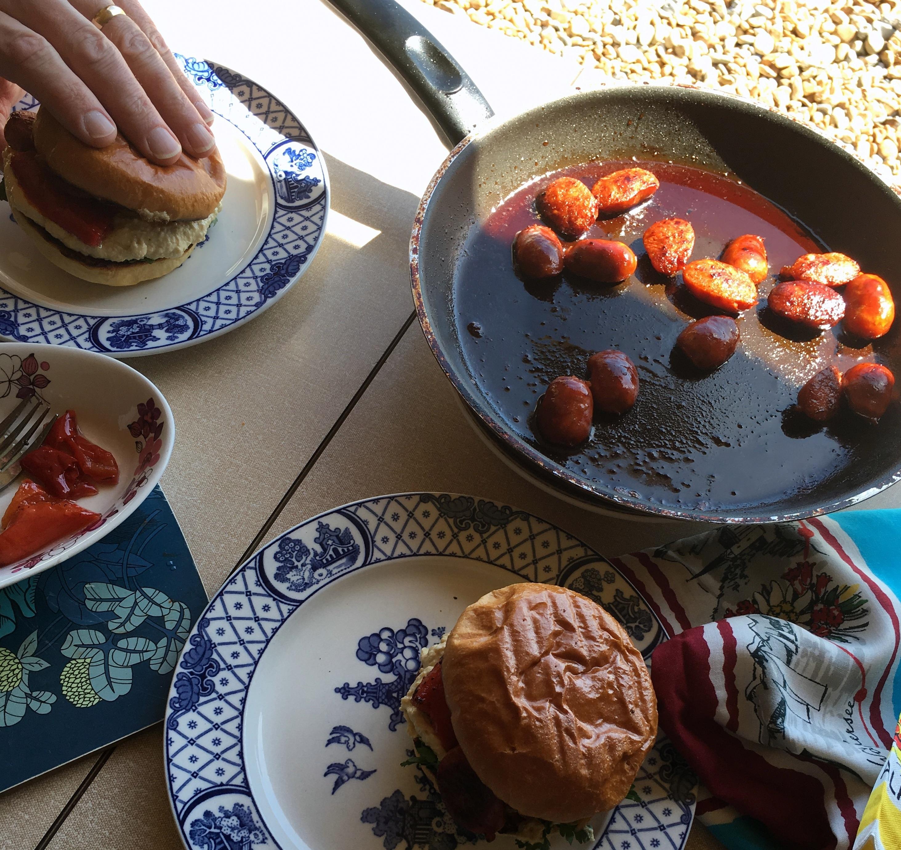 Chorizo and Hummus rolls by beachhutcook