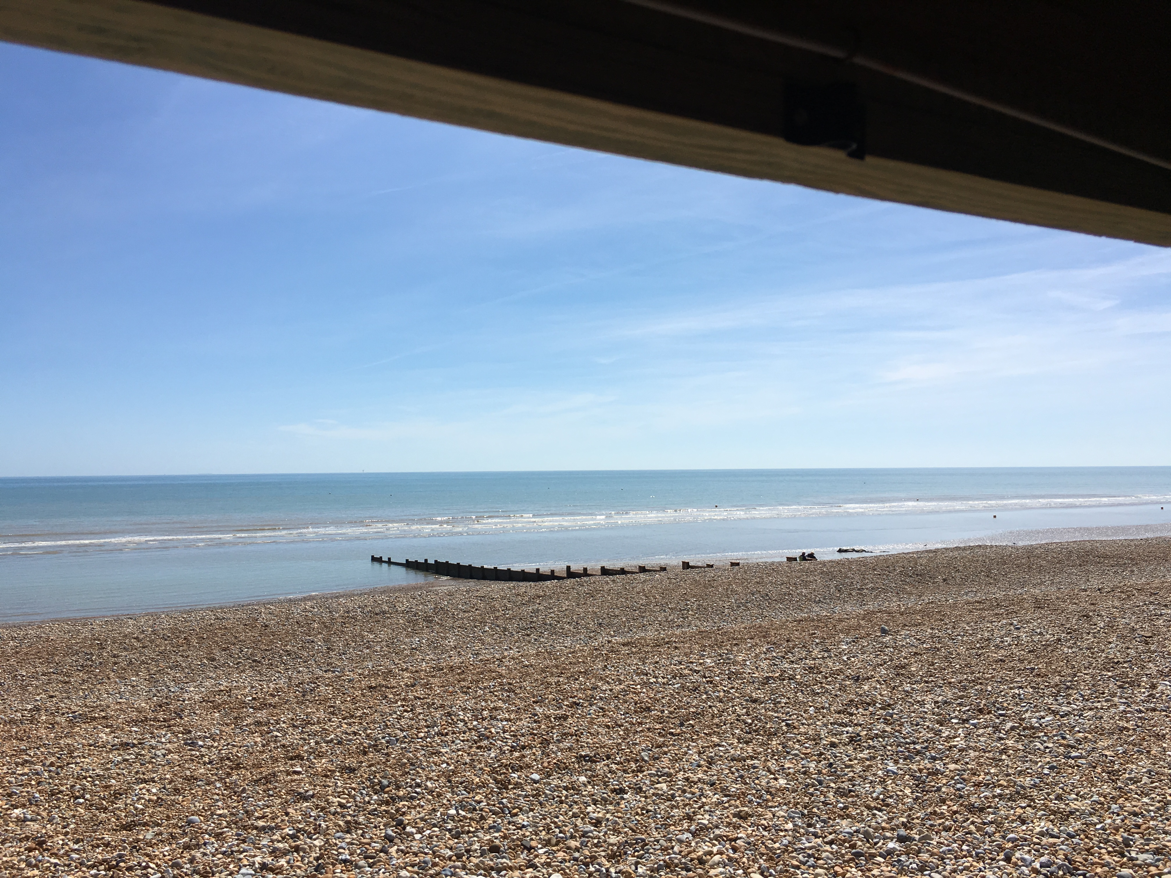 view from beachhutcook's beach hut