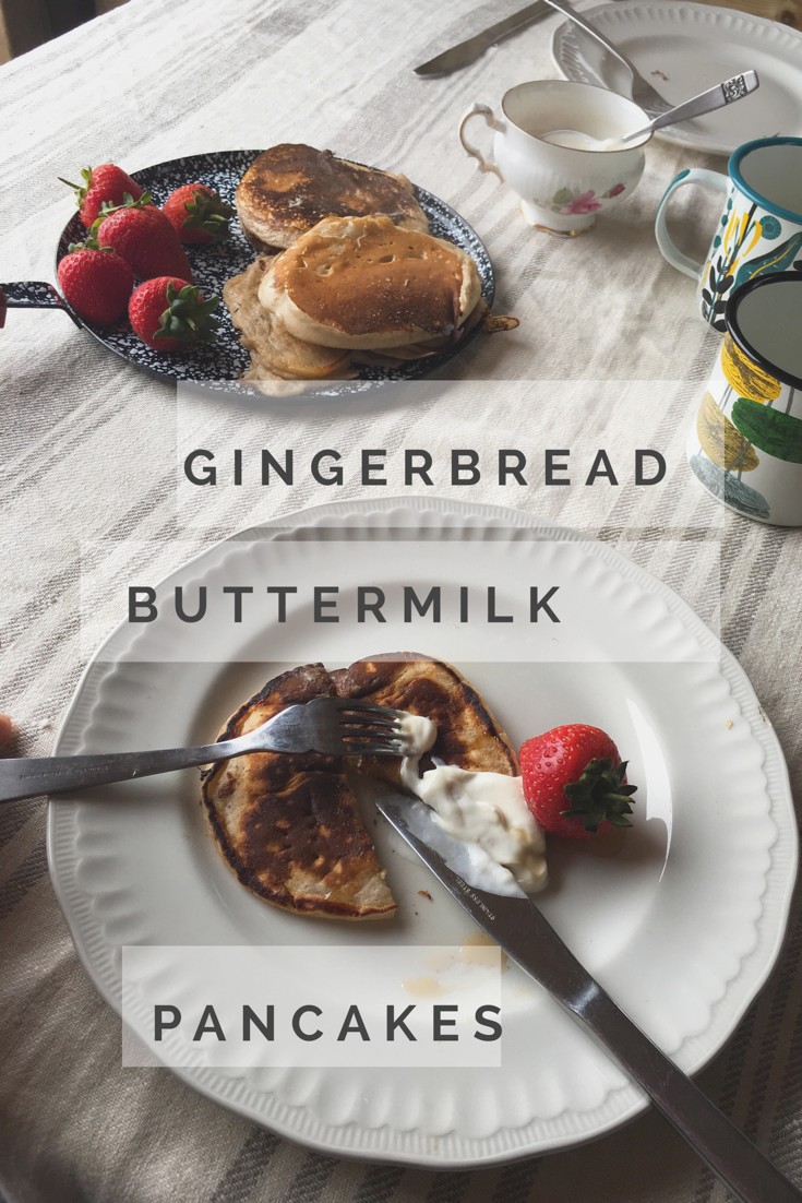 Gingerbread Buttermilk Pancakes by Beachhutcook