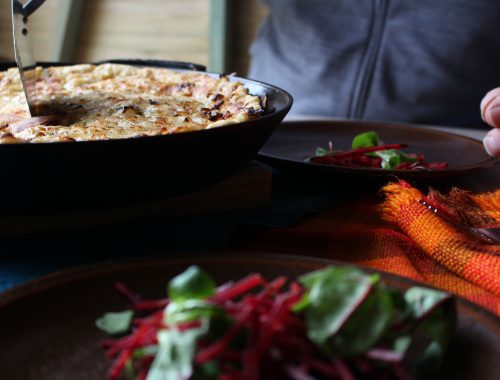 Woodfired Bacon and Onion Batter Pudding by Beach Hut Cook