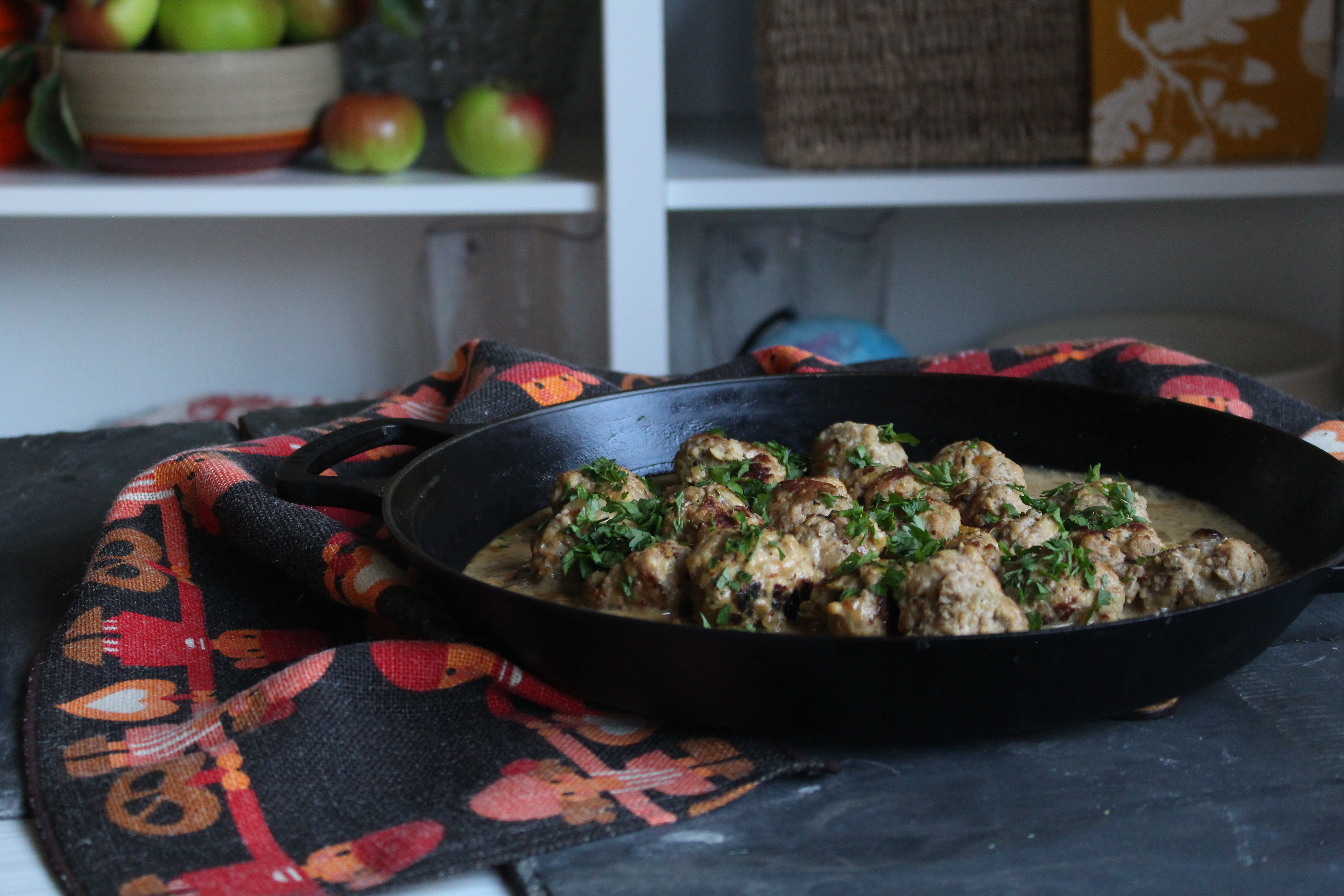 Ikea style Swedish pork meatballs, seasoned with fennel seeds and cooked in a creamy sauce. Ultimate comfort food.