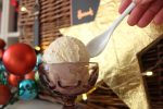 A richly spiced no churn marmalade ice cream using Harrods Orange and Ginger marmalade from their Christmas Hamper, The Grosvenor