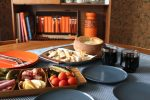An easy yet indulgent cheese fondue using a mild cheese and cider instead of kirsh for a simple treat to share round the table. The ultimate retro classic with an up to date twist. Beach Hut Cook