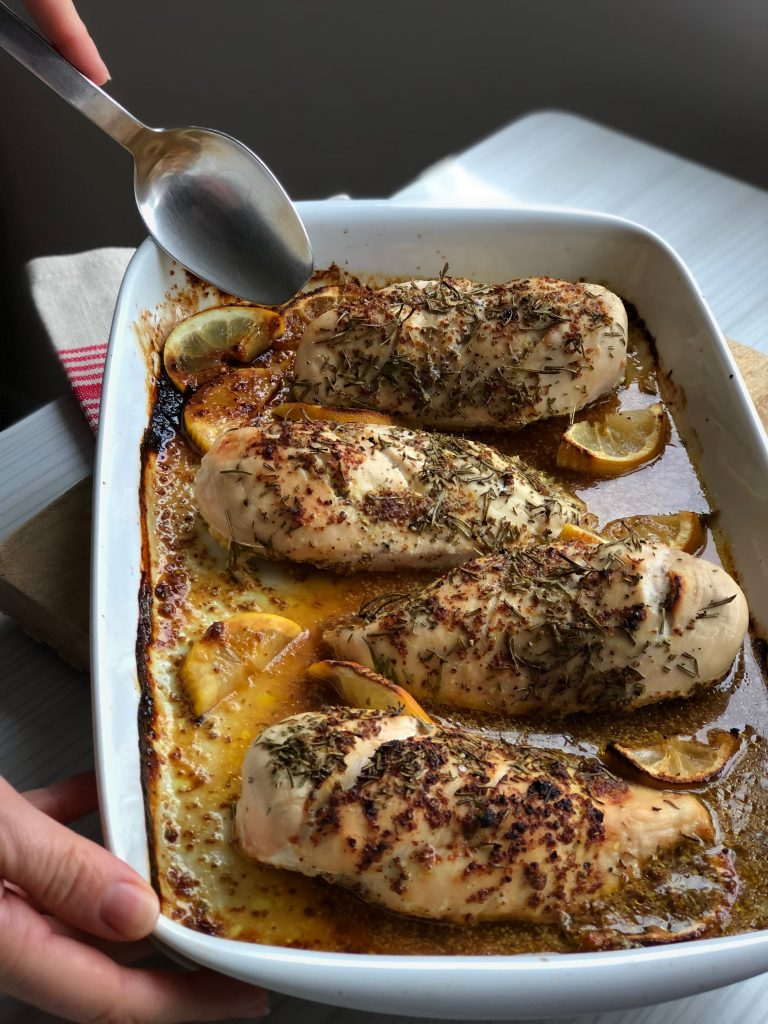 An easy after work dinner. Honey Mustard Chicken, each to prepare and quick and tasty.
