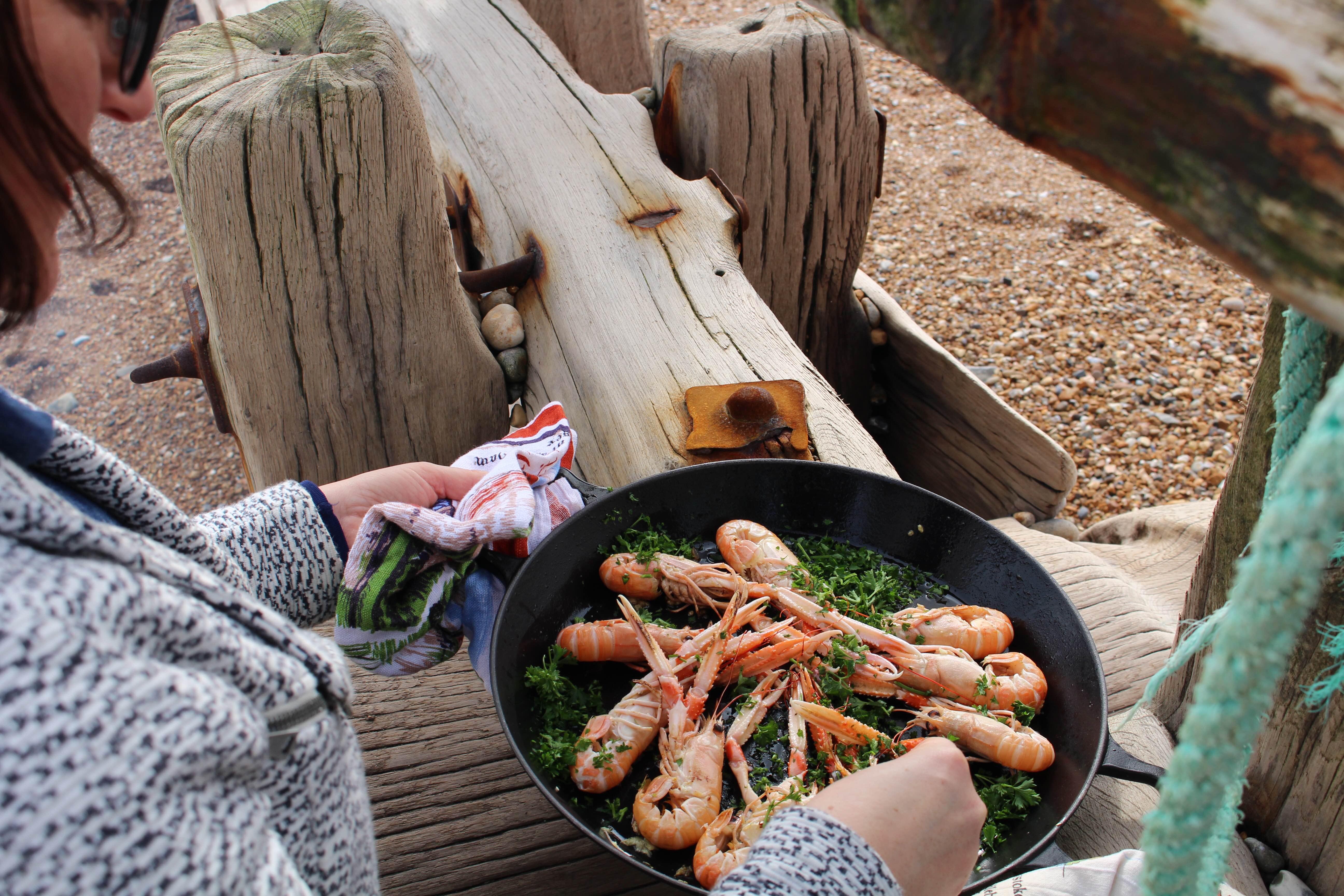 Beachhutcook Houseology Beach Cooking using a Le Creuset Paella Dish