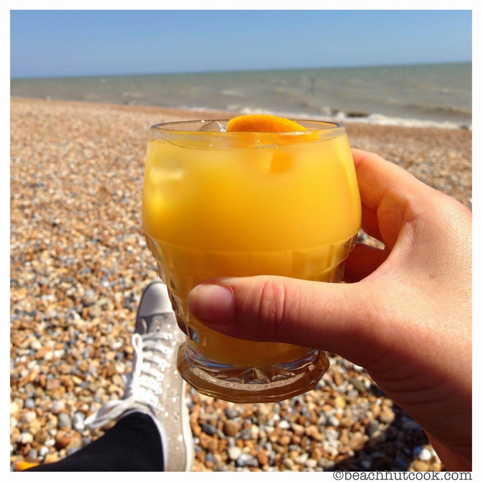 Lavender Vodka and Orange Cocktail by Beachhutcook