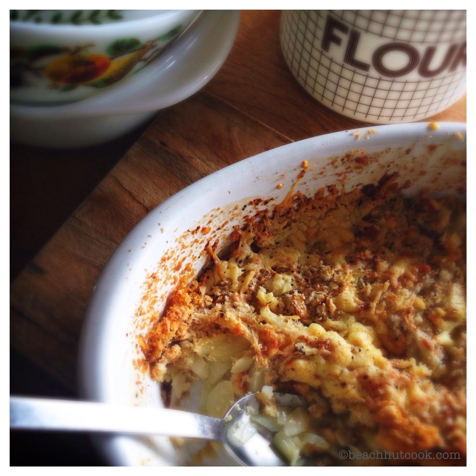 Beachhutcook's Onion au Gratin. Less is More. Cheap Eats