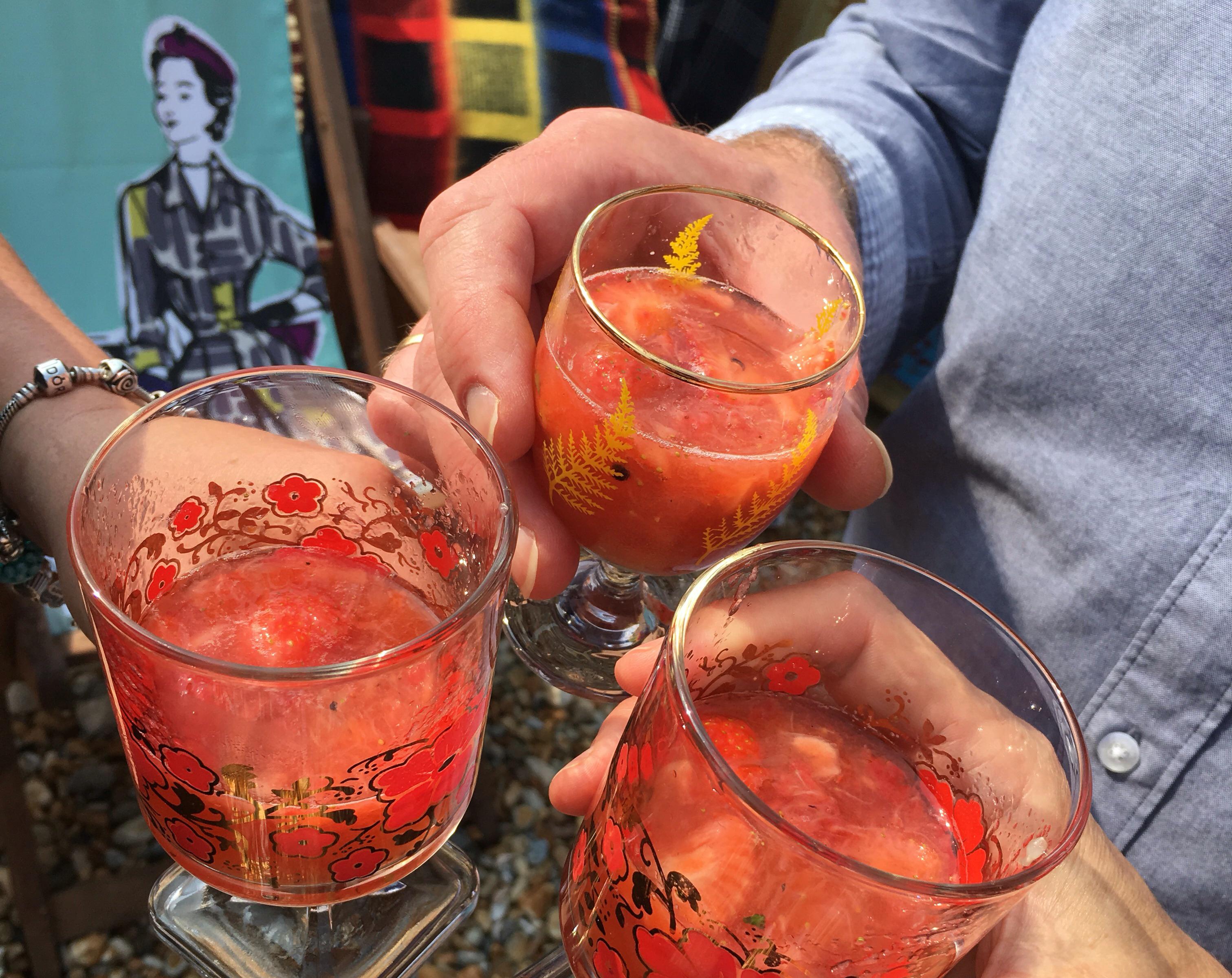 Beachhutcook's Strawberry, Vanilla and Black Pepper Daiquiri Cocktail