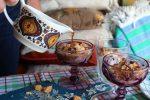 affogato vanilla ice cream gelato inspired dessert with espresso coffee poured over